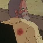 博士撃たれる。椅子は防弾仕様じゃないらしい