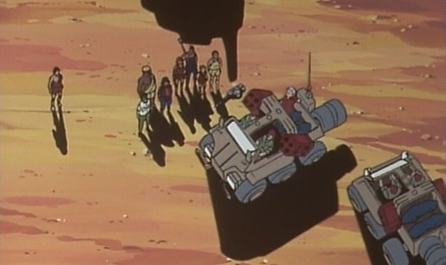 最終回、去っていくシーン。荷台に博士と部下の遺体が積まれている