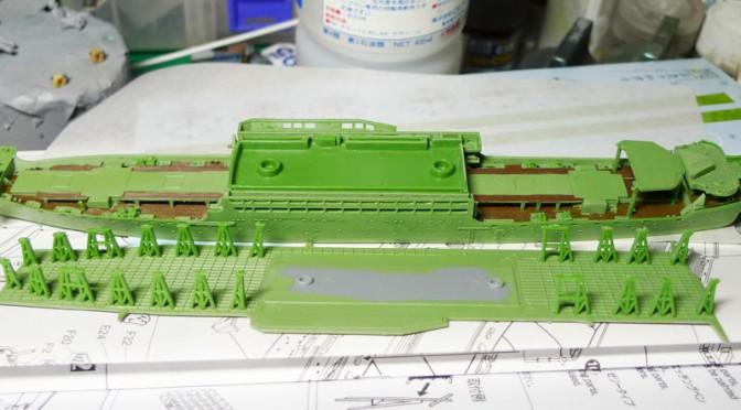 1/700 アオシマ 日本陸軍 丙型特種船 あきつ丸(2)
